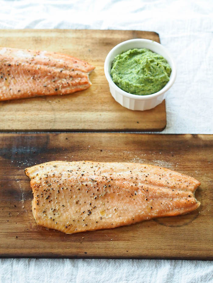 Mood Boosting Wild Trout with Asian Avocado Cream