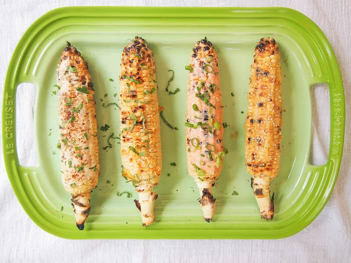 Grilled Corn, Four Ways