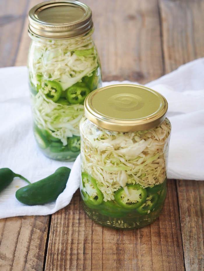 Fermented Jalapeno Cabbage Slaw