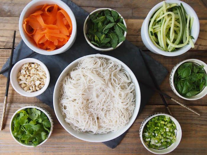 Gluten Free Vietnamese Rice Noodle Salad