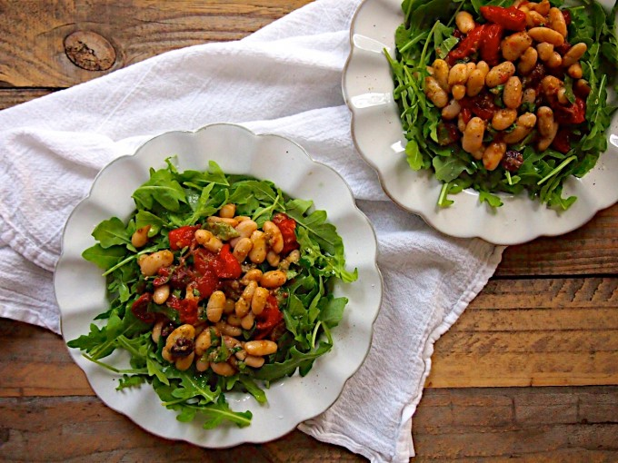 Roasted Tomato White Bean Salad