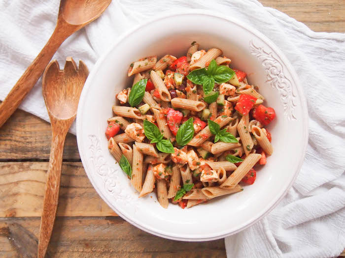 Whole Grain Gazpacho Pasta Salad