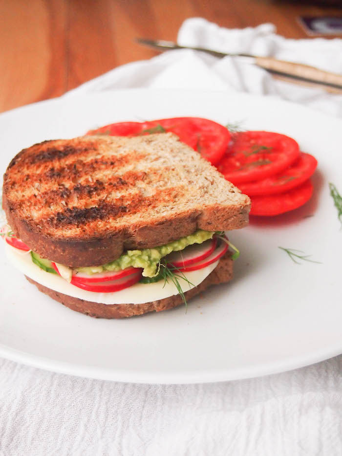 The Ultimate Veggie Avocado Sandwich with Pickled Veggies