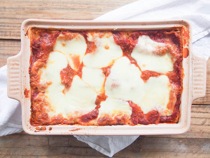 Vegetable Lasagna with Yogurt Sauce