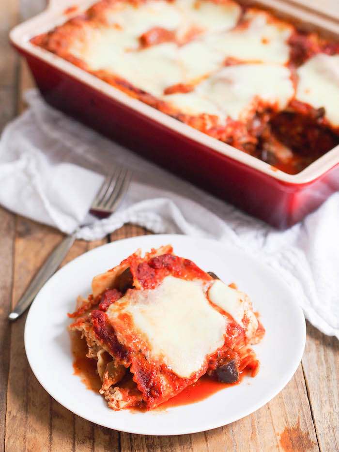 Vegetarian lasagna with eggplant and mushroom meat sauce rachael disclosure this post was sponsored by pastafits through my participation in the healthy aperture network which is awesome because i love pasta forumfinder Choice Image