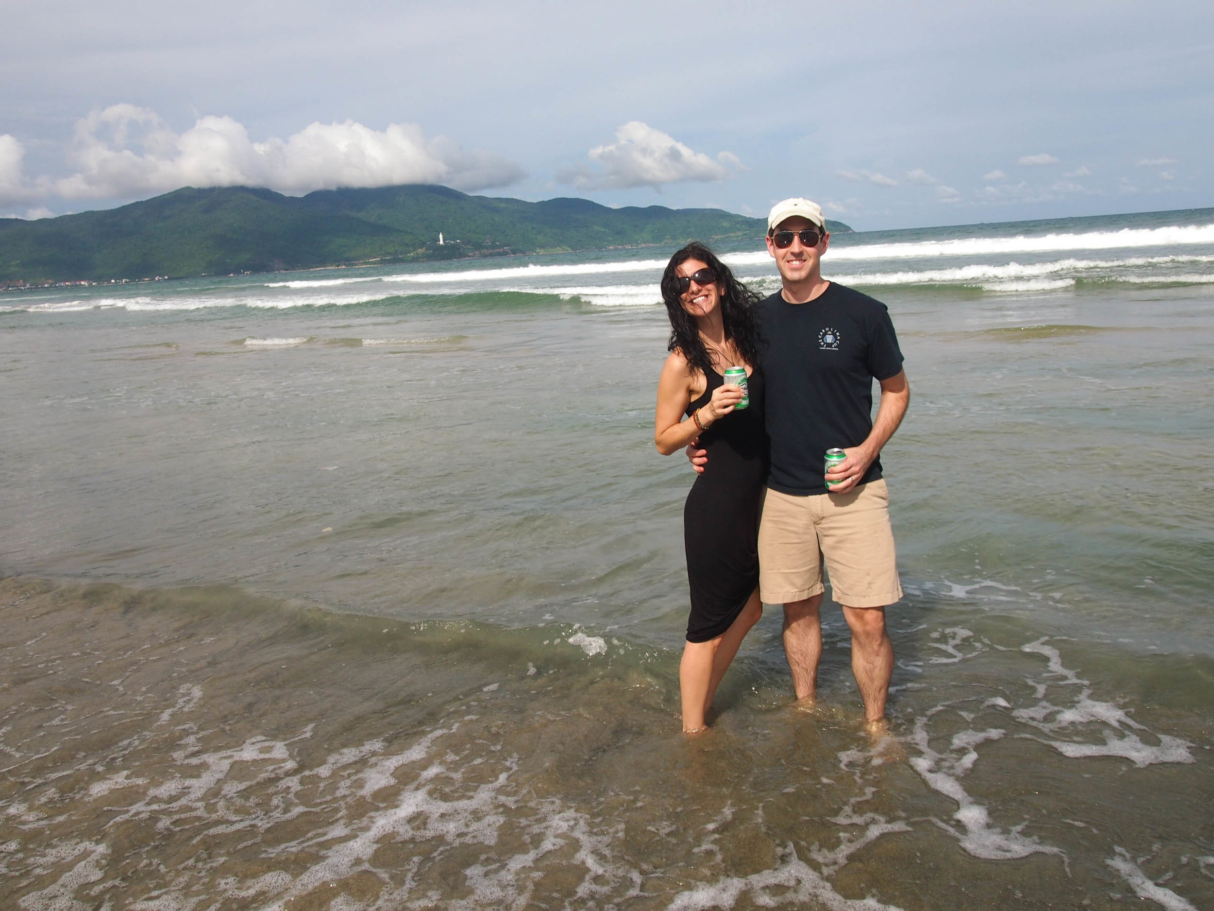 Beer break on China Beach