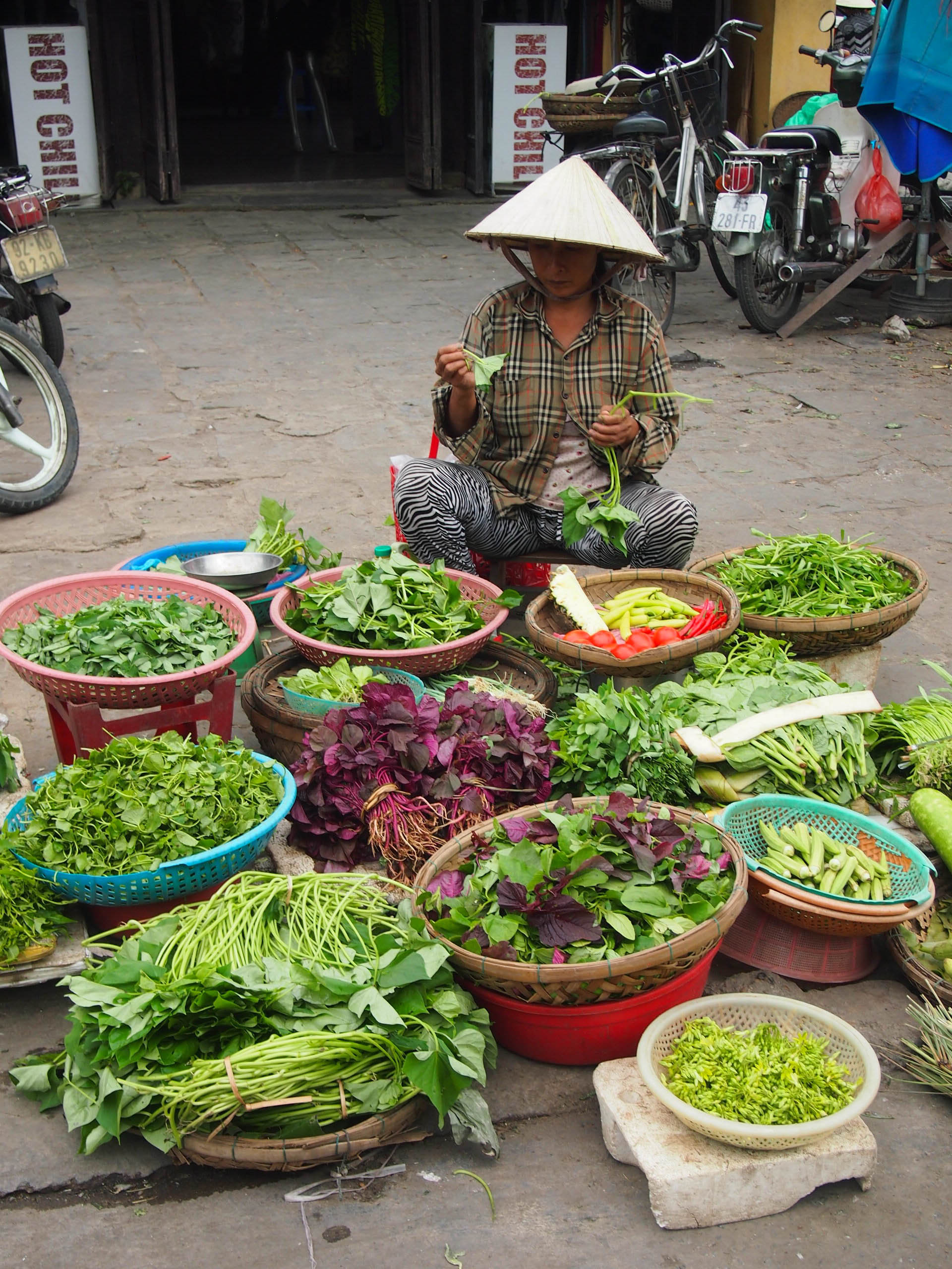 Asian greens at the market in Hoi An