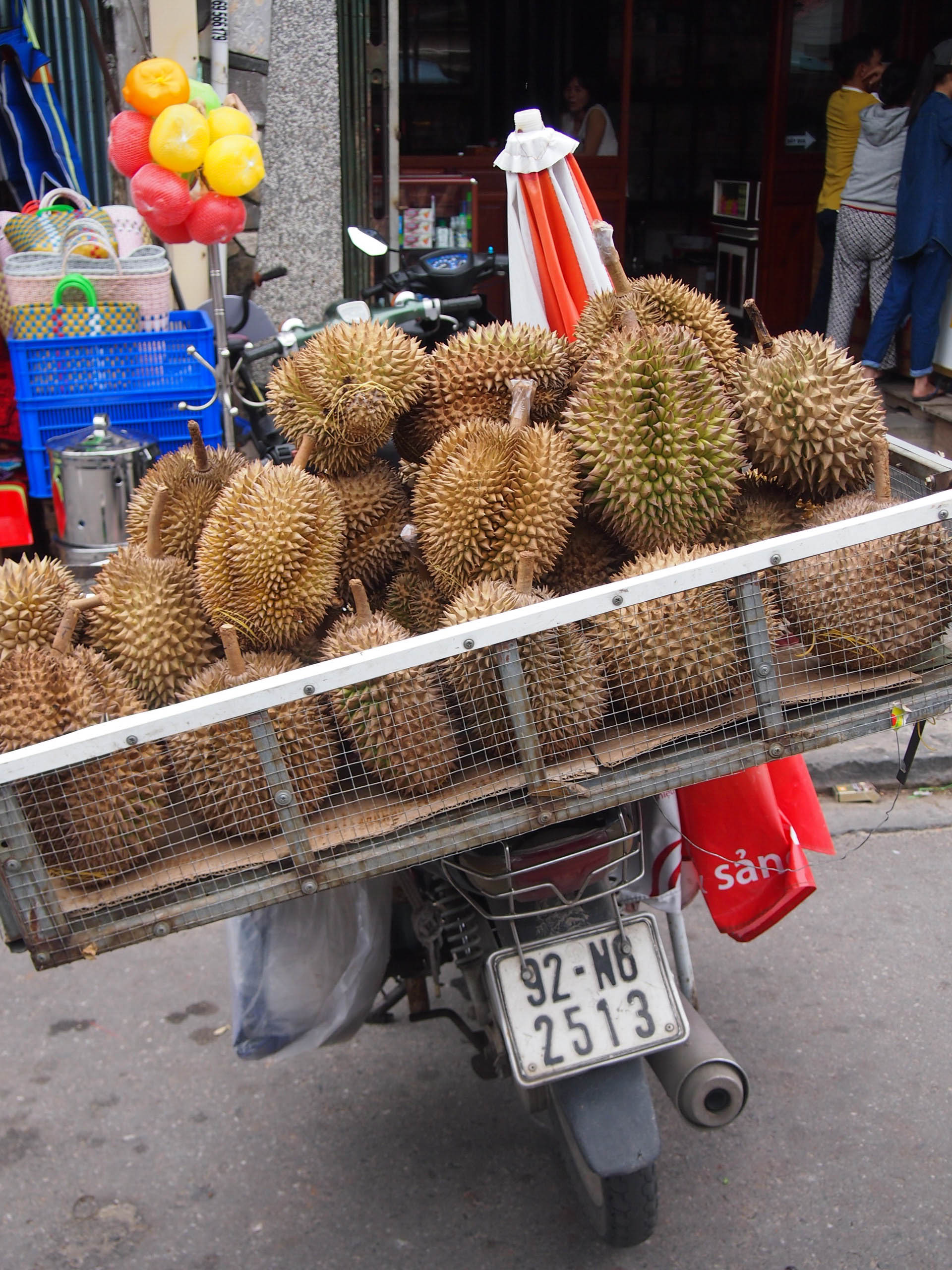 Durian at the market in Hoi An
