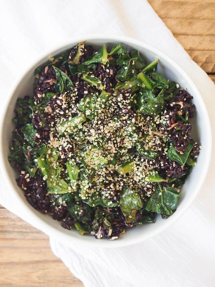 Crispy Kale, Black Rice & Coconut Salad