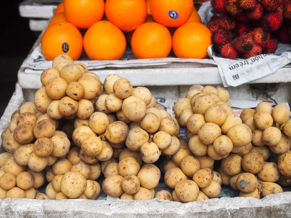 Longan fruit at the market