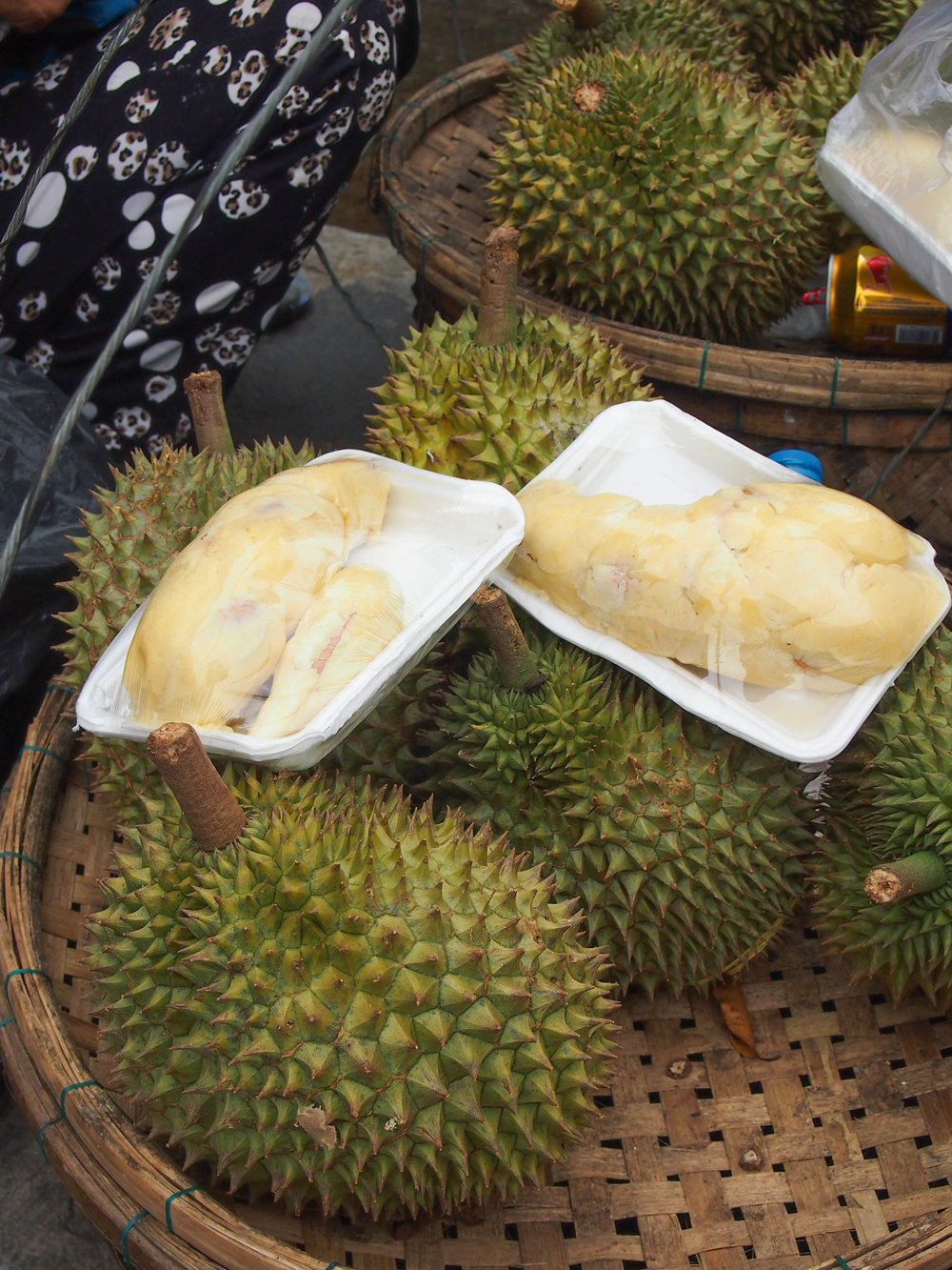 Durian. It even looks disgusting. Like a weird organ or some sea creature.