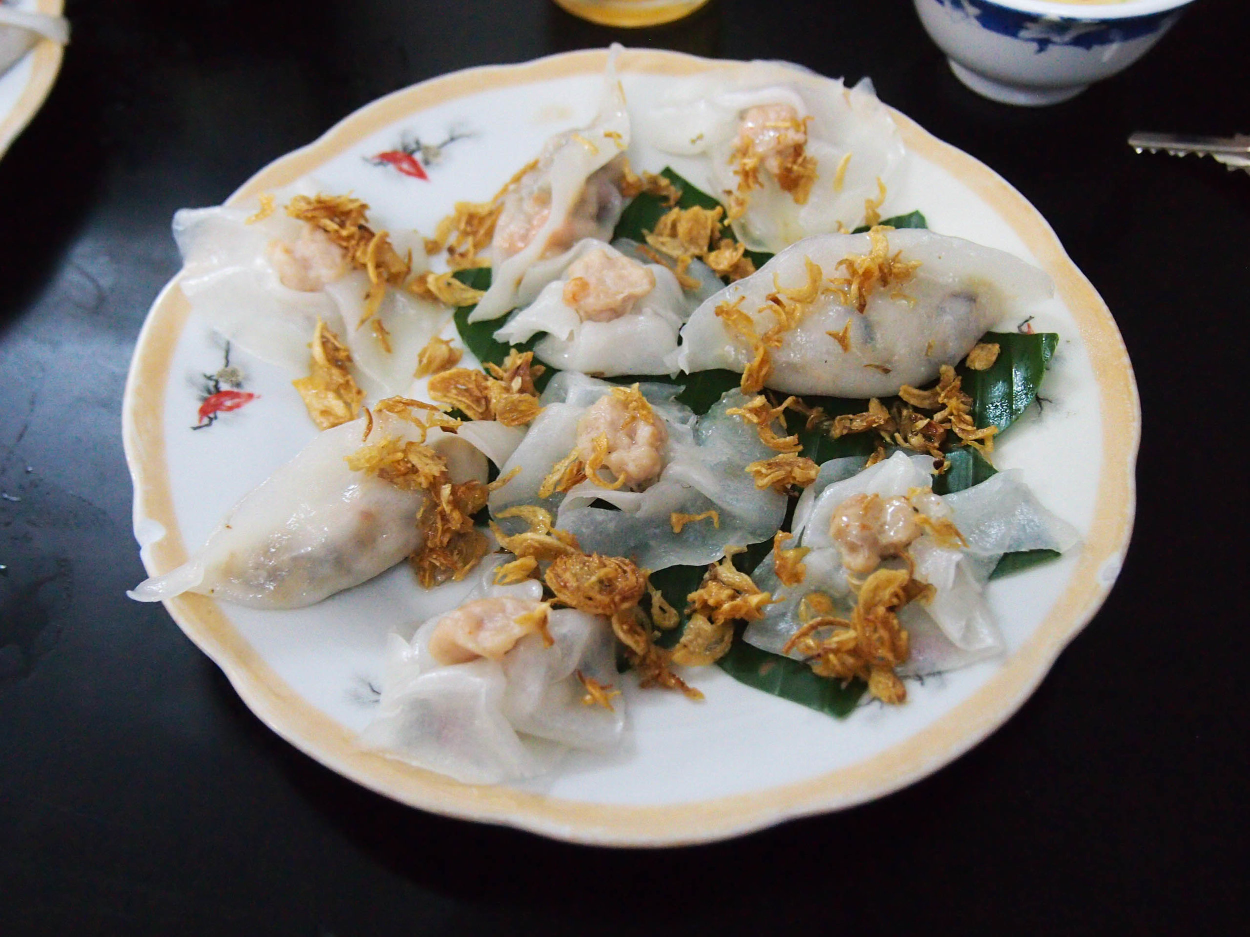 White Rose dumplings in Hoi An