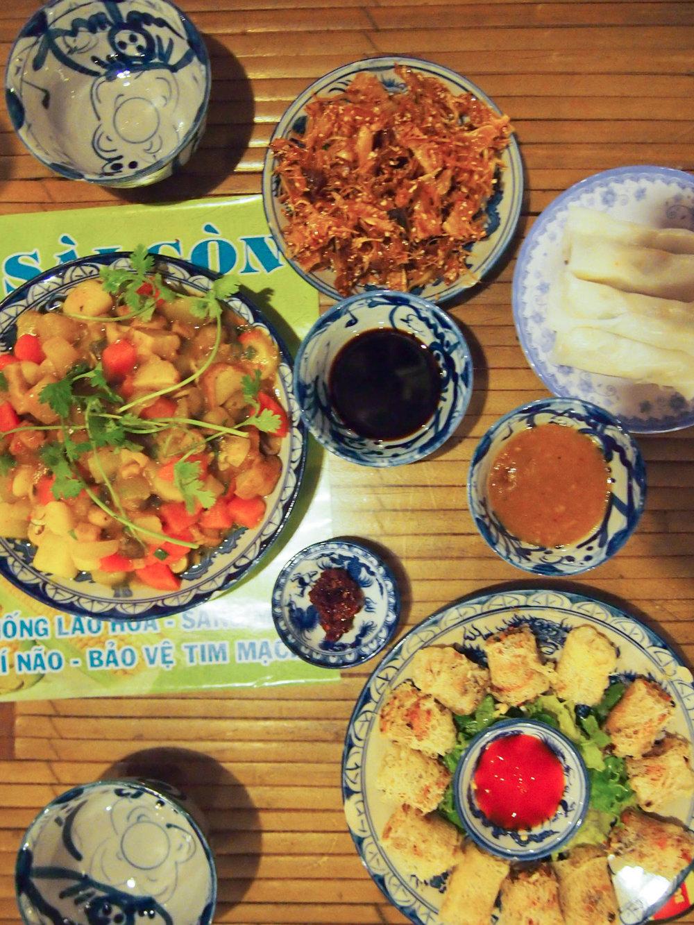 Vegetarian meal in Hue