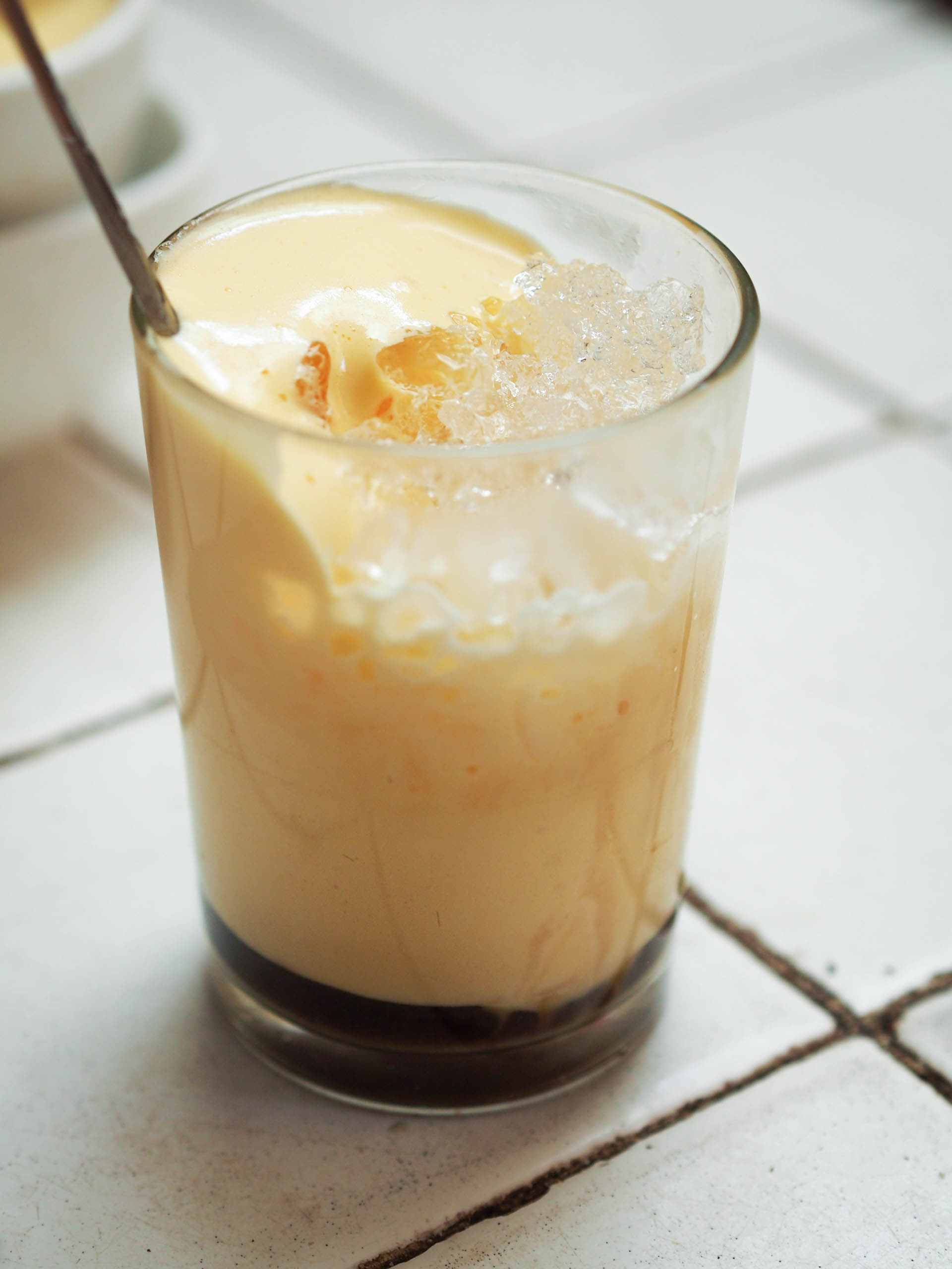 Cold Vietnamese egg coffee