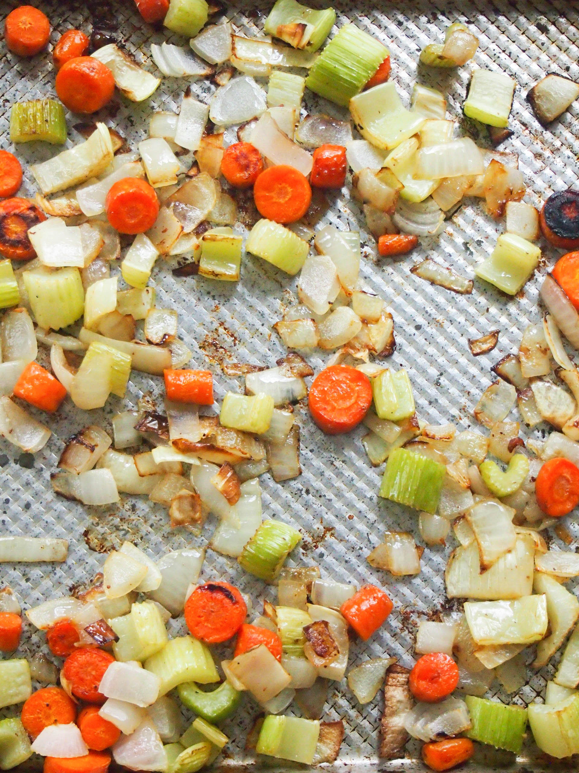 Roasting vegetables before making broth brings out the most flavor.