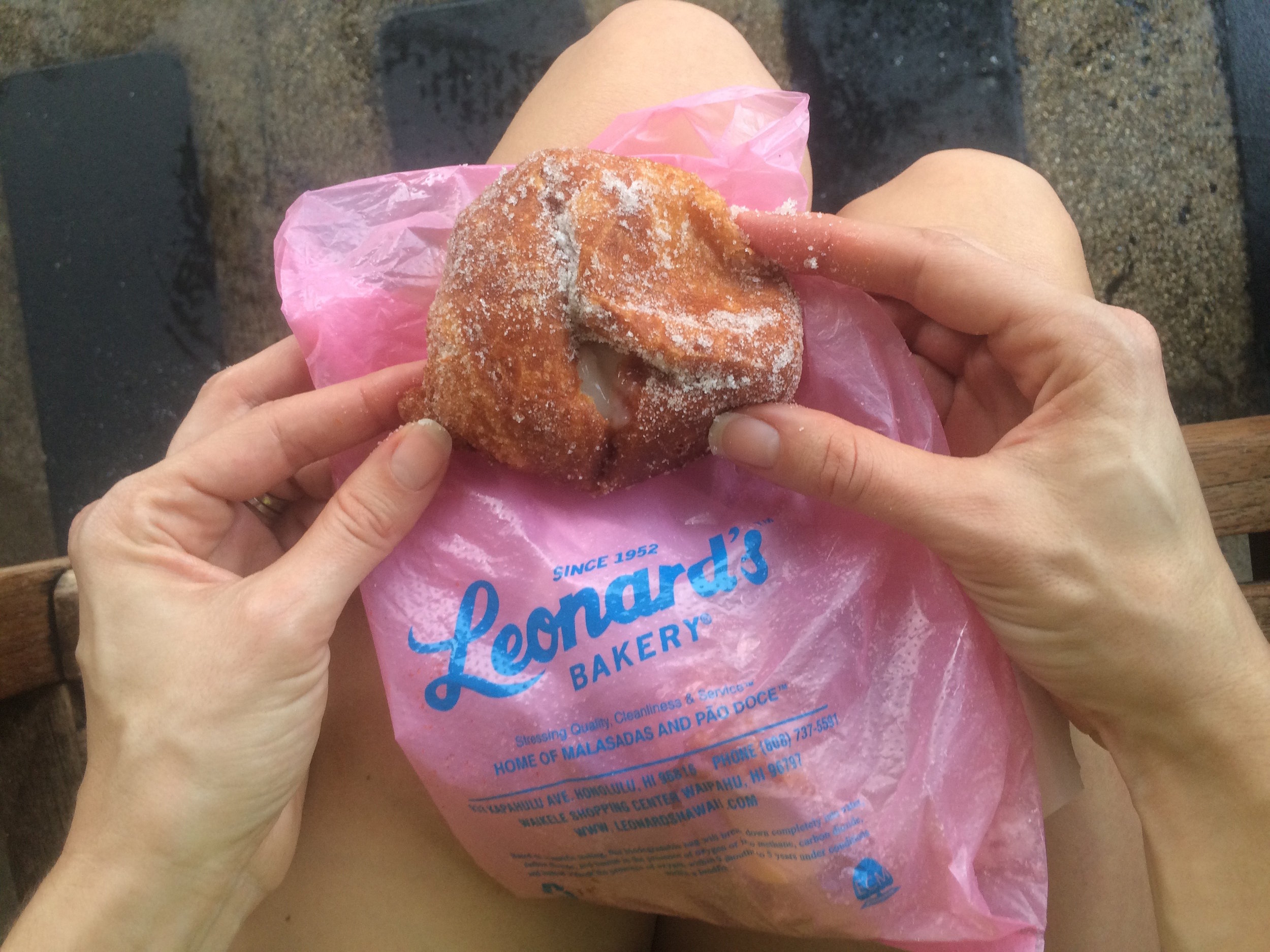 Malasadas at Leonard's in Honolulu