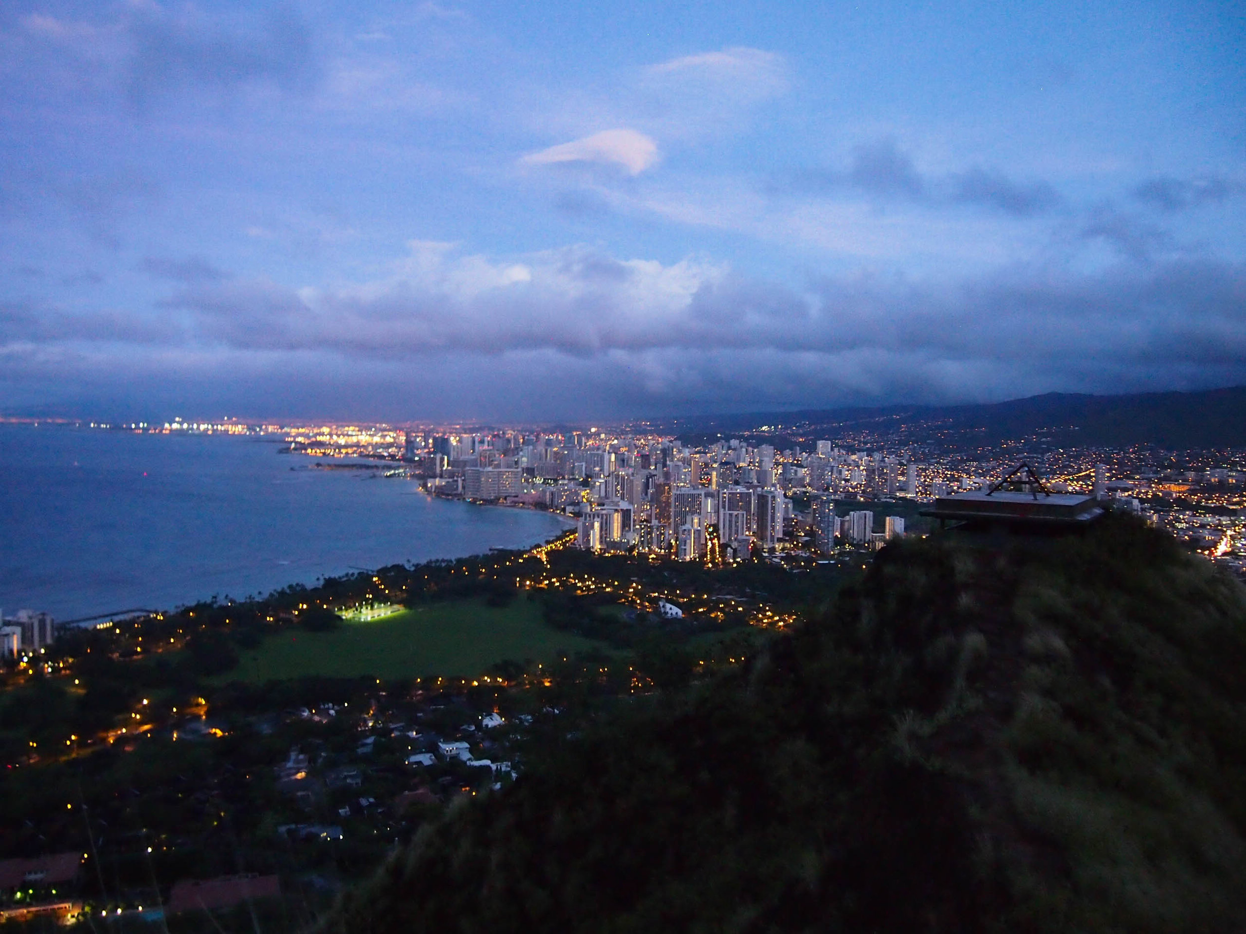 Sunrise at Diamond Head Crater
