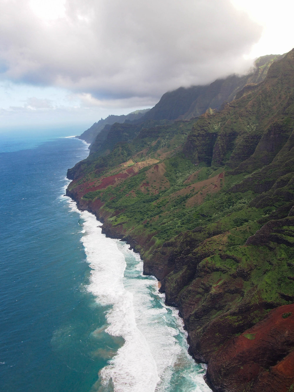 Na Pali Coast from helicopter tour