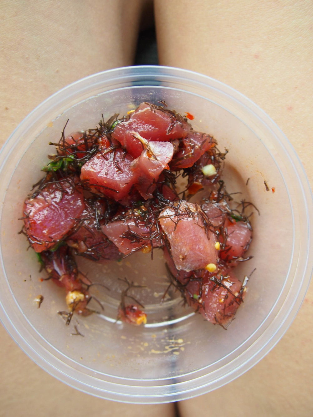 ahi poke from Fish Express on Kauai