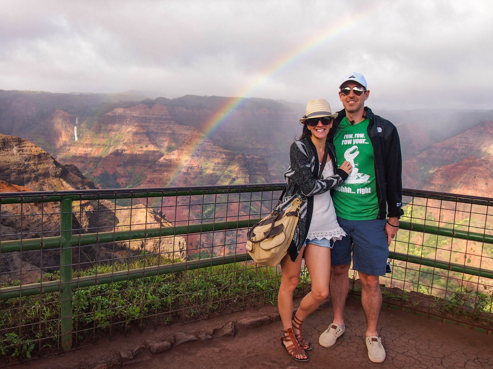 Rainbowl over Waimea Canyon in Kauai
