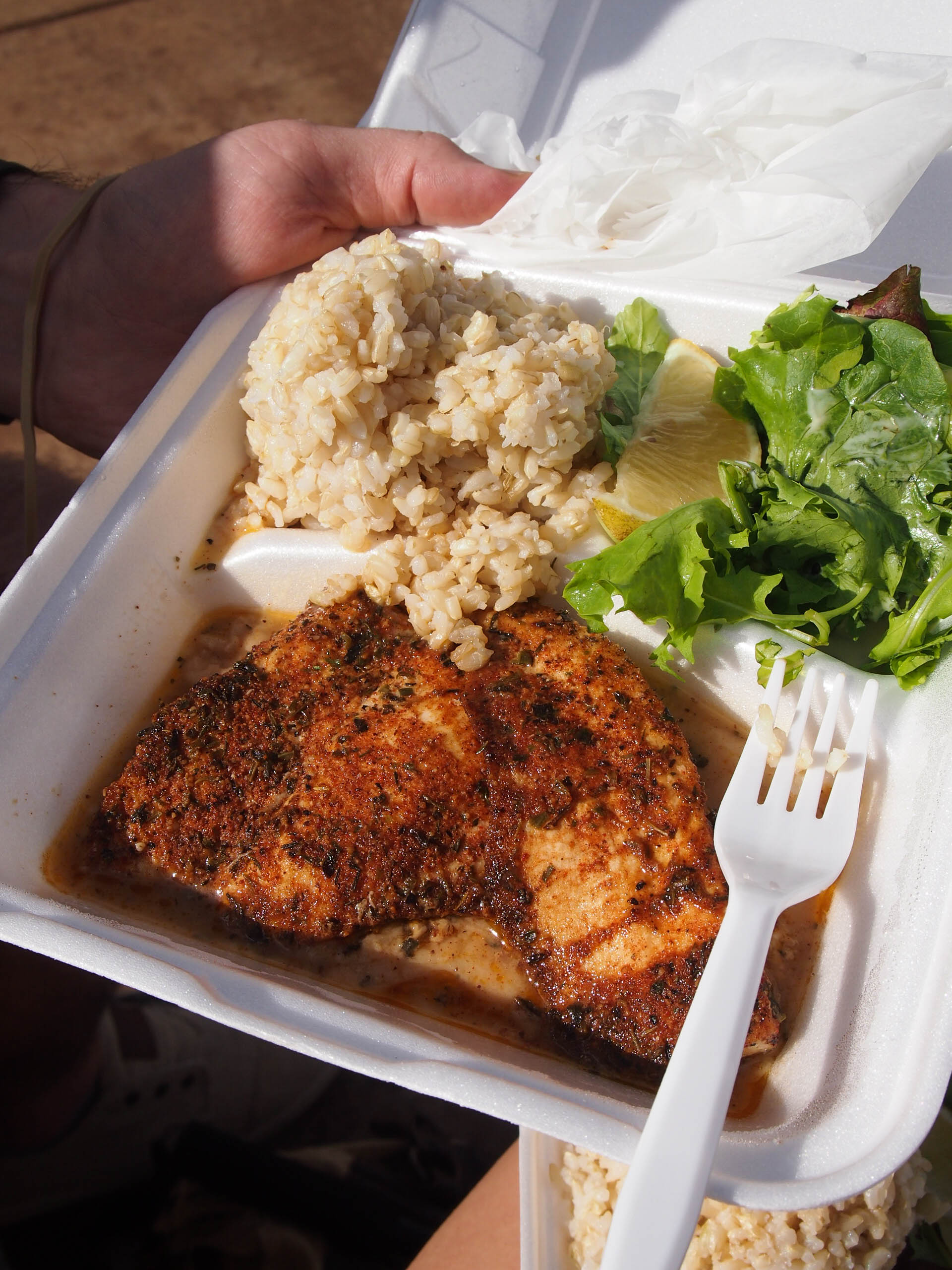 Cajun swordfish from fish express
