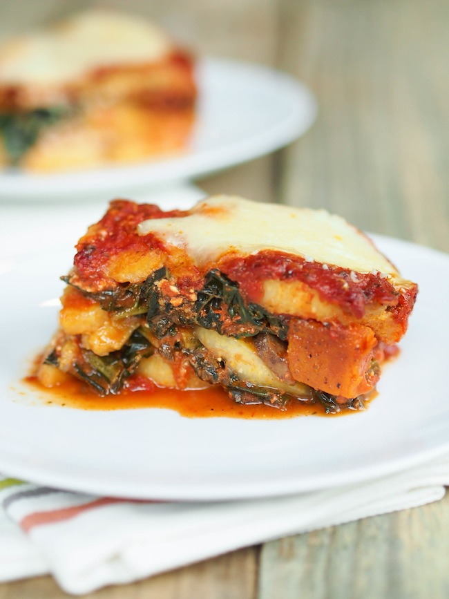Polenta Vegetarian Lasagna with Kale and Butternut Squash