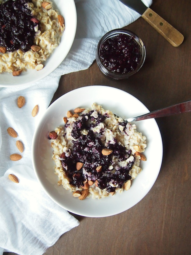 Healthy Fruit and Cream Oatmeal