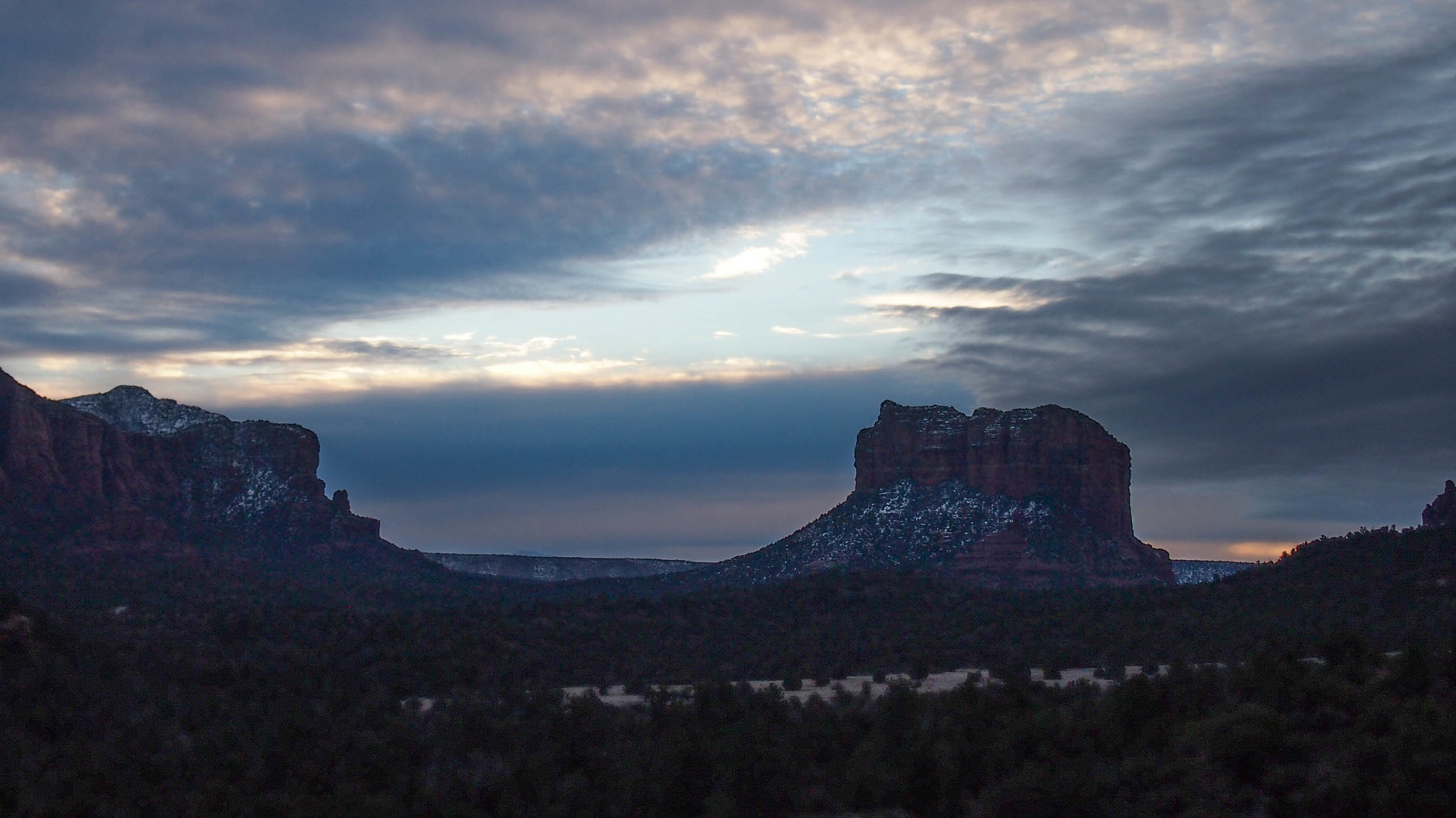 sunrise at cathedral rock