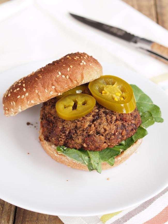 Spicy Lentil Mushroom Burger