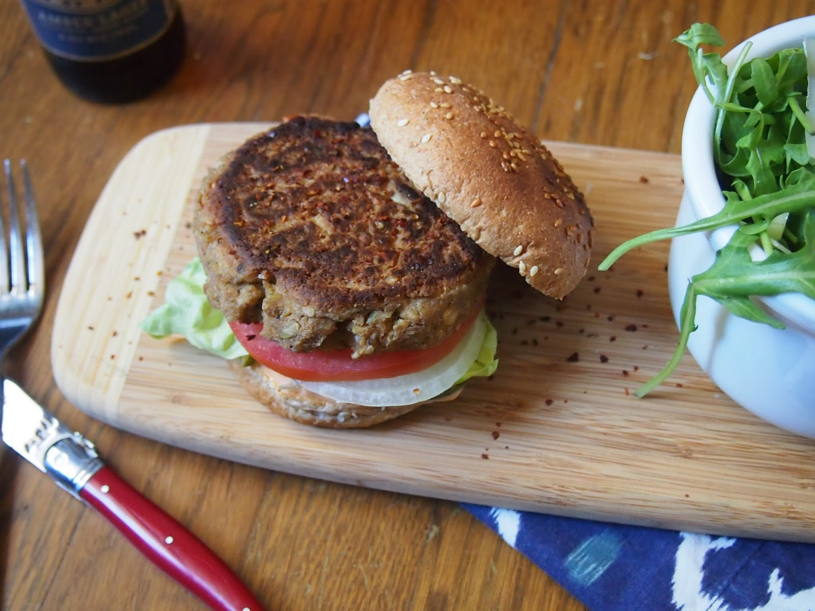 Spicy Tofu Burger
