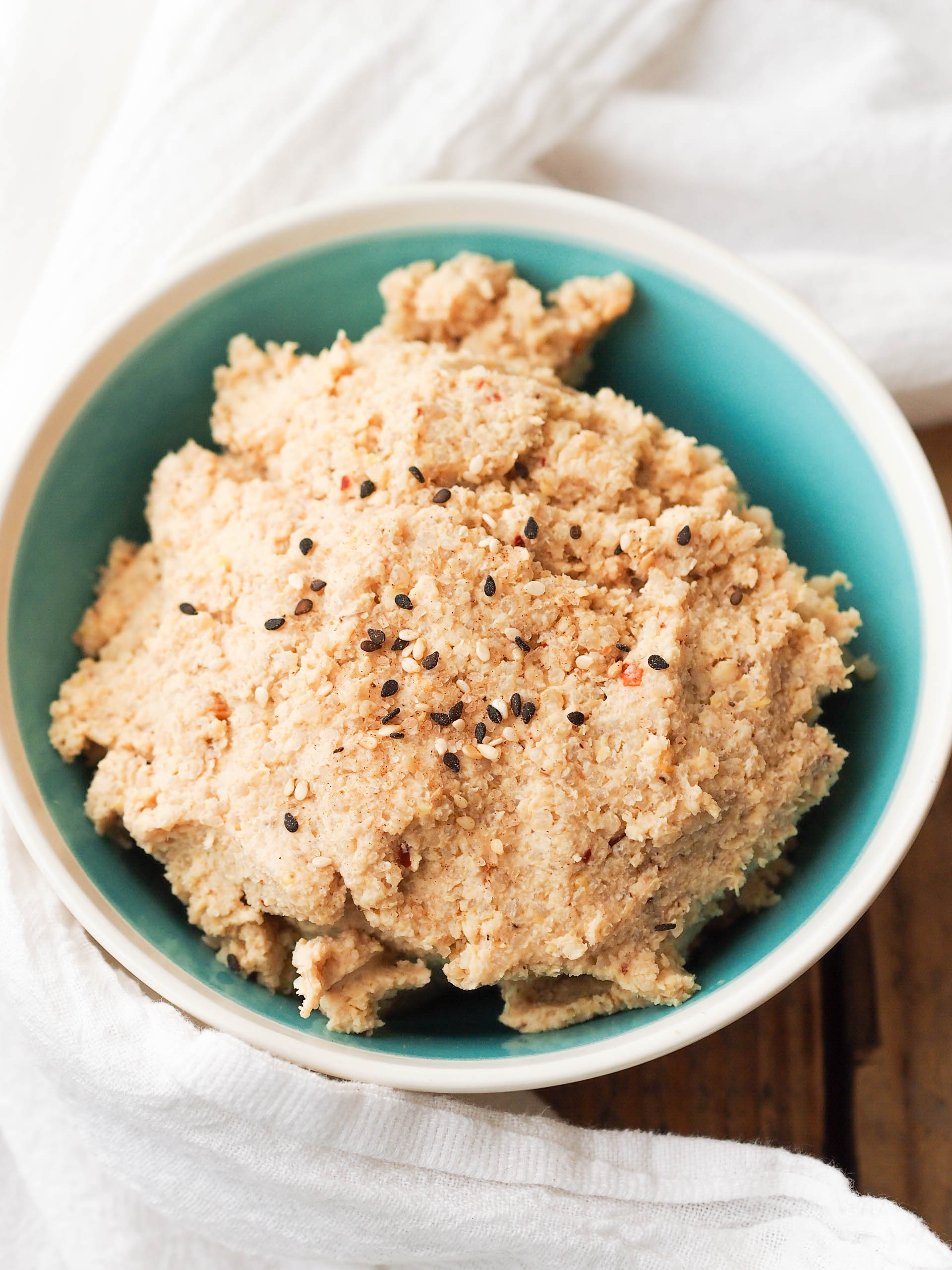 Asian tempeh quinoa salad is perfect over a salad or with rice crackers as a snack!
