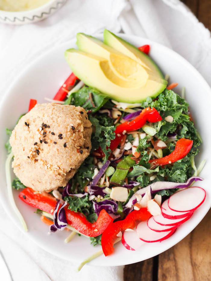 Asian Tempeh-Quinoa Salad is a protein packed topping for your Eat Smart Salad Kit!