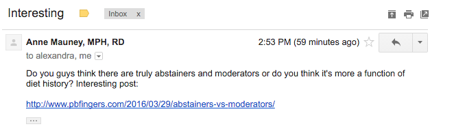 Moderators versus abstainers