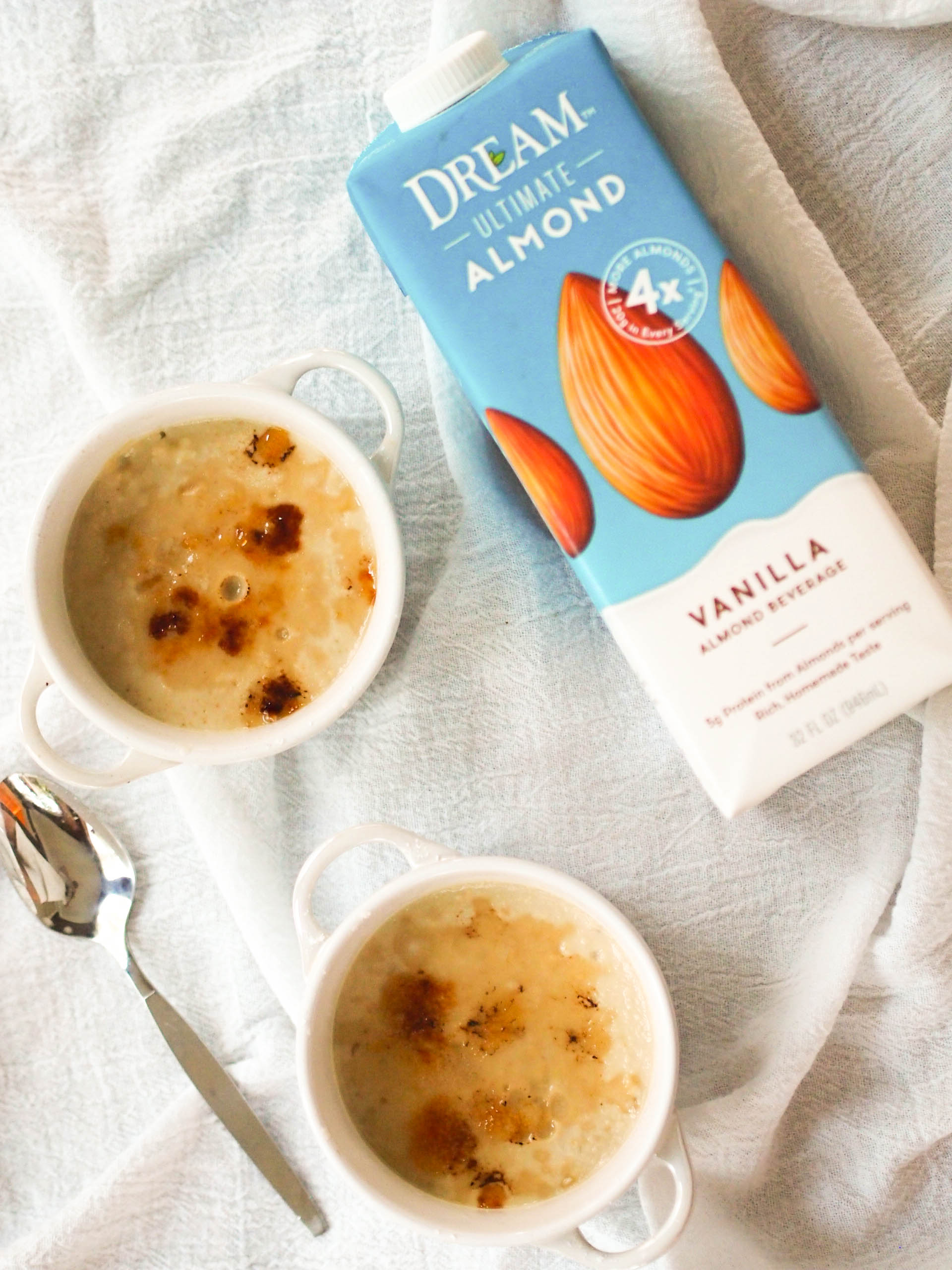 Gluten and dairy free almond creme brulee