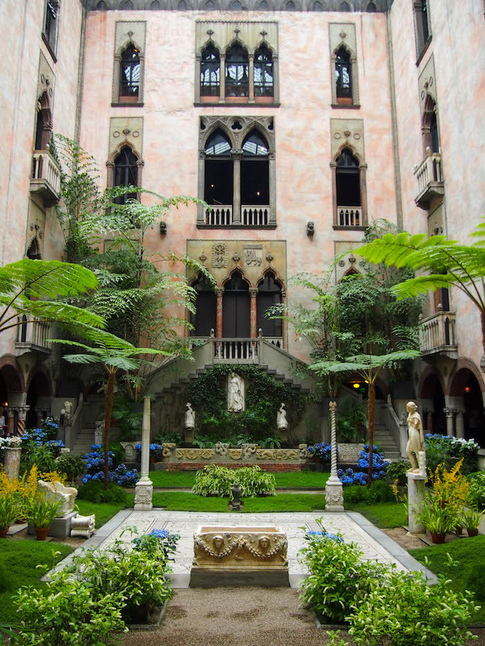 Inside the courtyard of the Gardner museum