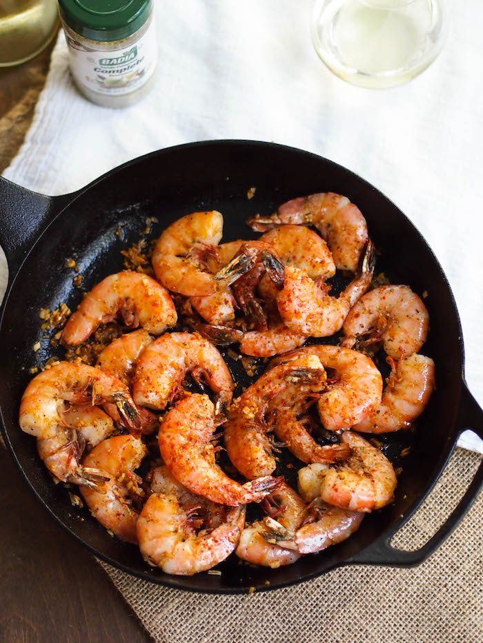 Grilled Shrimp in Pil Pil Sauce