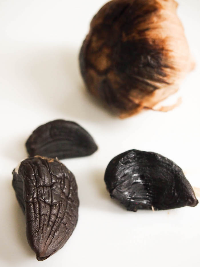 Black garlic is a unique Asian ingredient that makes a savory sauce for pan seared tofu
