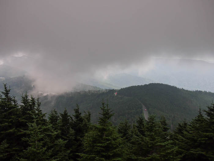 Our view of the horizon from Mount Mitchell