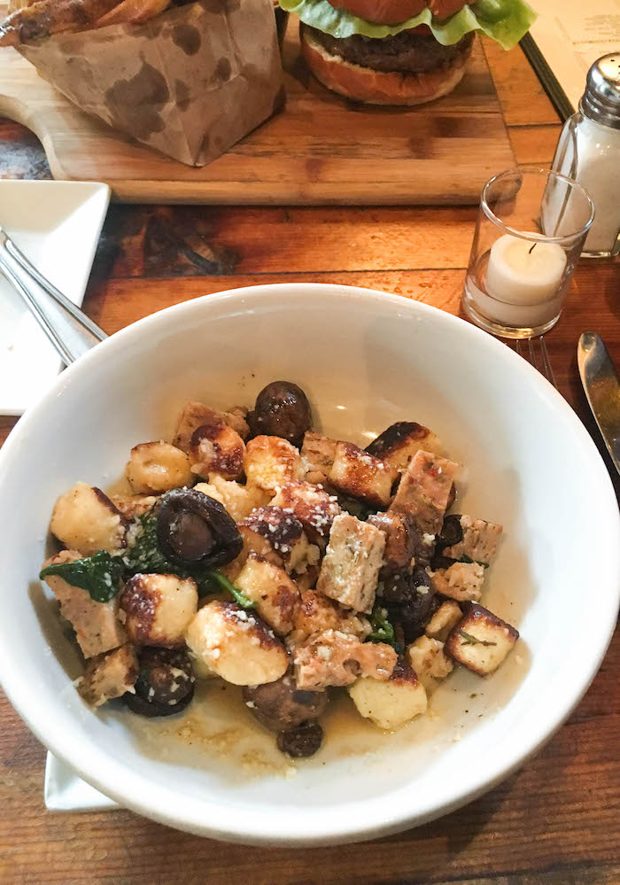 Chicken sausage gnocchi from coopers craft and kitchen in NYC