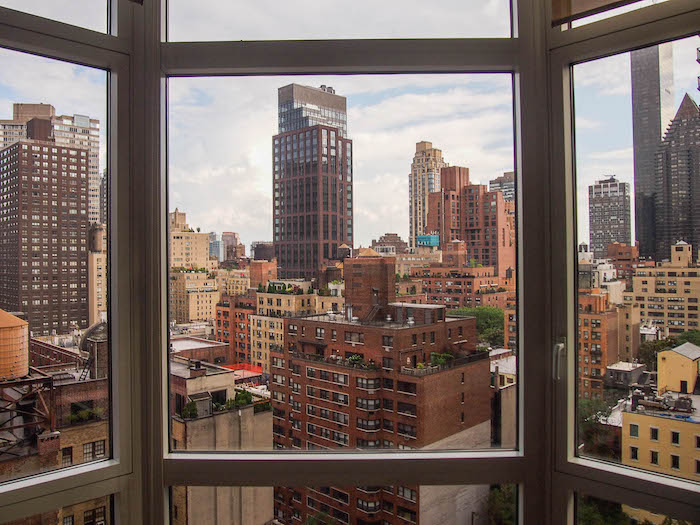 Our view of NYC from where we stayed in midtown. This view lit up at night was everything