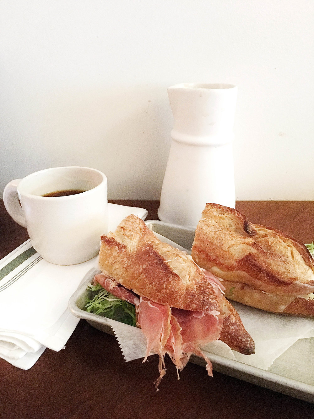 Jamon y queso & coffee is my kinda breakfast
