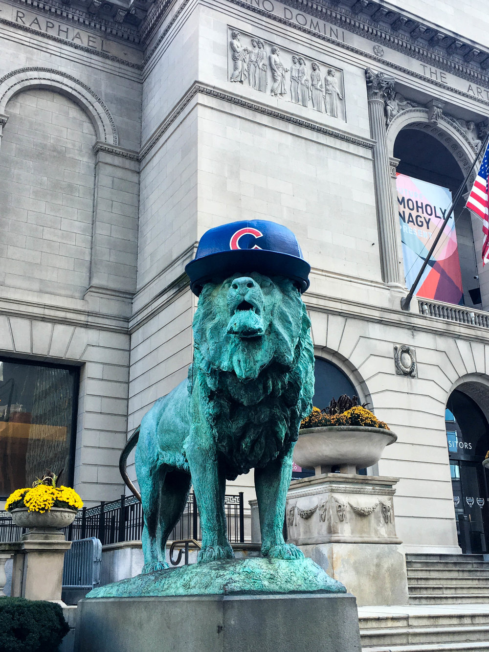 All of Chicago in the Cubs spirit
