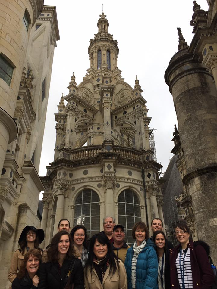 The whole family at Chambord