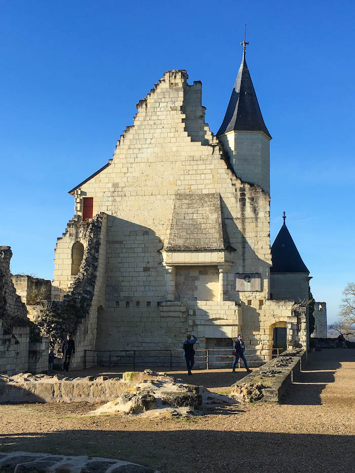 Ruins of the room where Joan of Arc met King Charles
