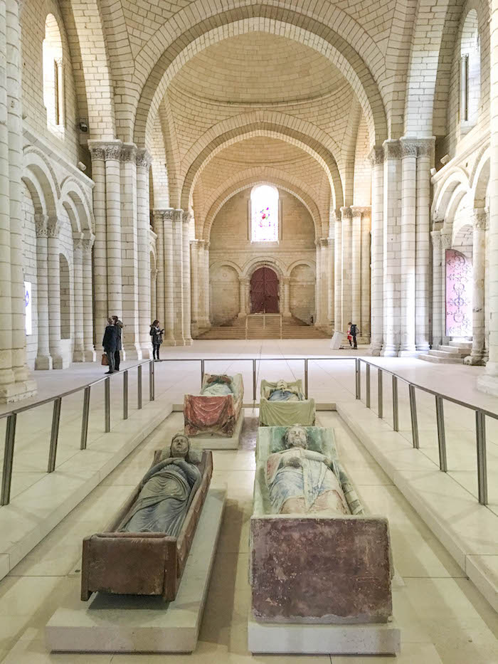 Burial place of Eleanor de Aquitaine and Richard the Lion Hearted