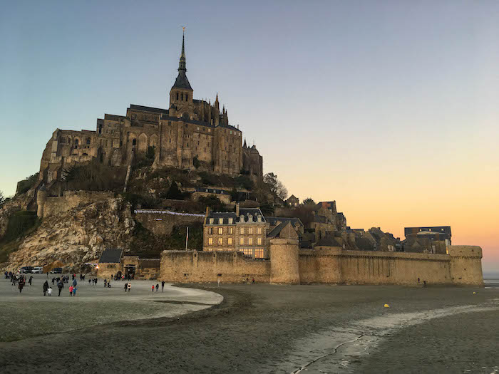 Sunset at Mont St-Michel
