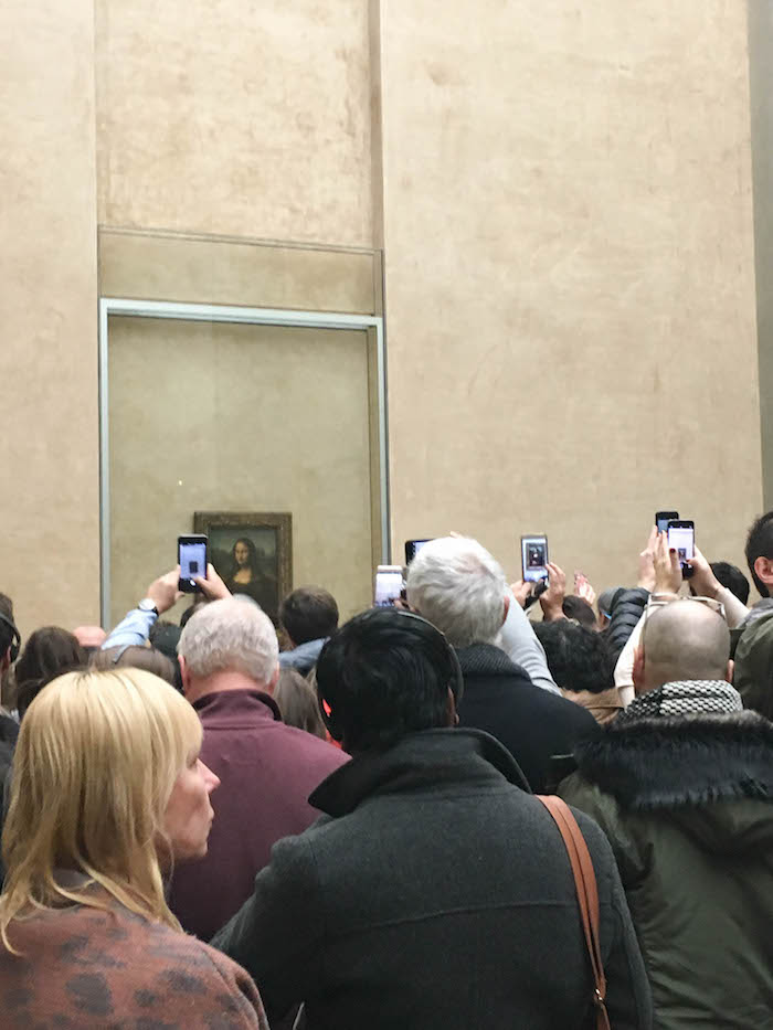 We saw the Mona Lisa!