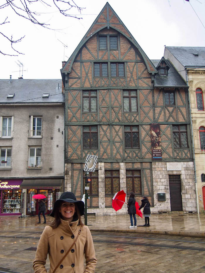 In front of Joan of Arc's house!! I wanted to be her when I was a kid…minus the whole getting burnt at the stake part.