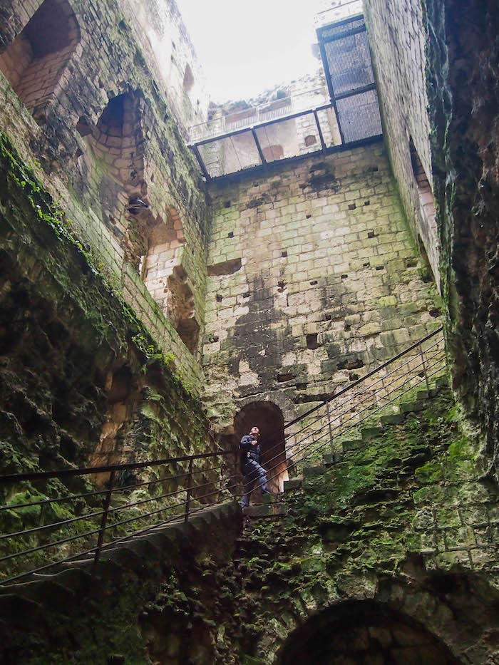 Exploring the keep was my favorite part, even though it was absolutely terrifying at the top!