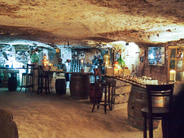 Wine tasting in a cave in France
